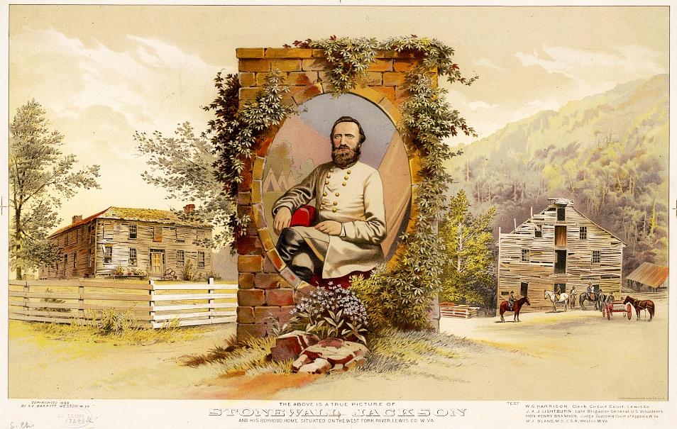 Stonewall Jackson and his boyhood home