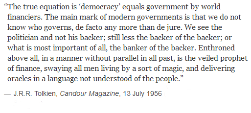 Tolkien on who governs