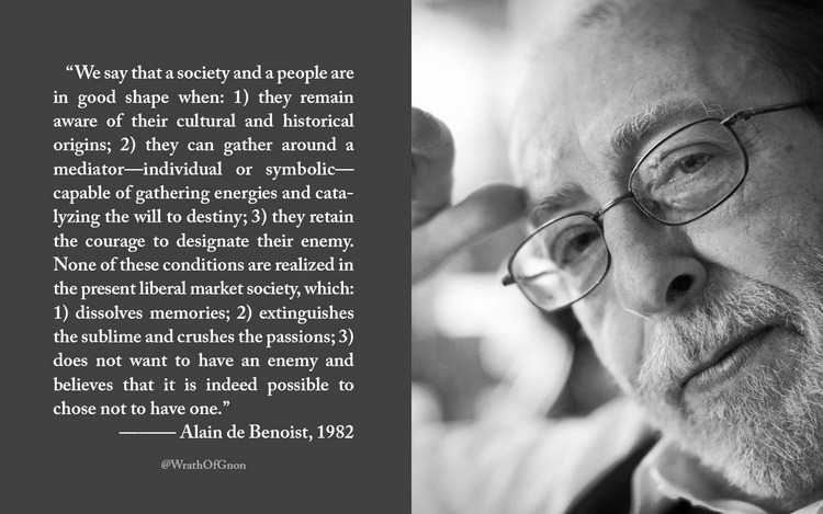 Alain de Benoist quote