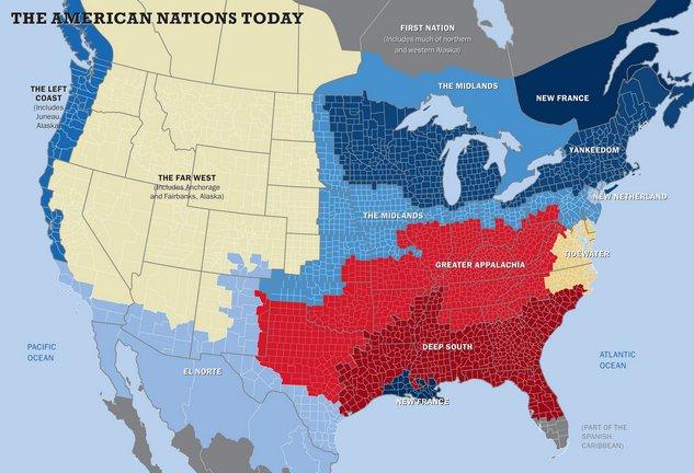 woodard's eleven nations