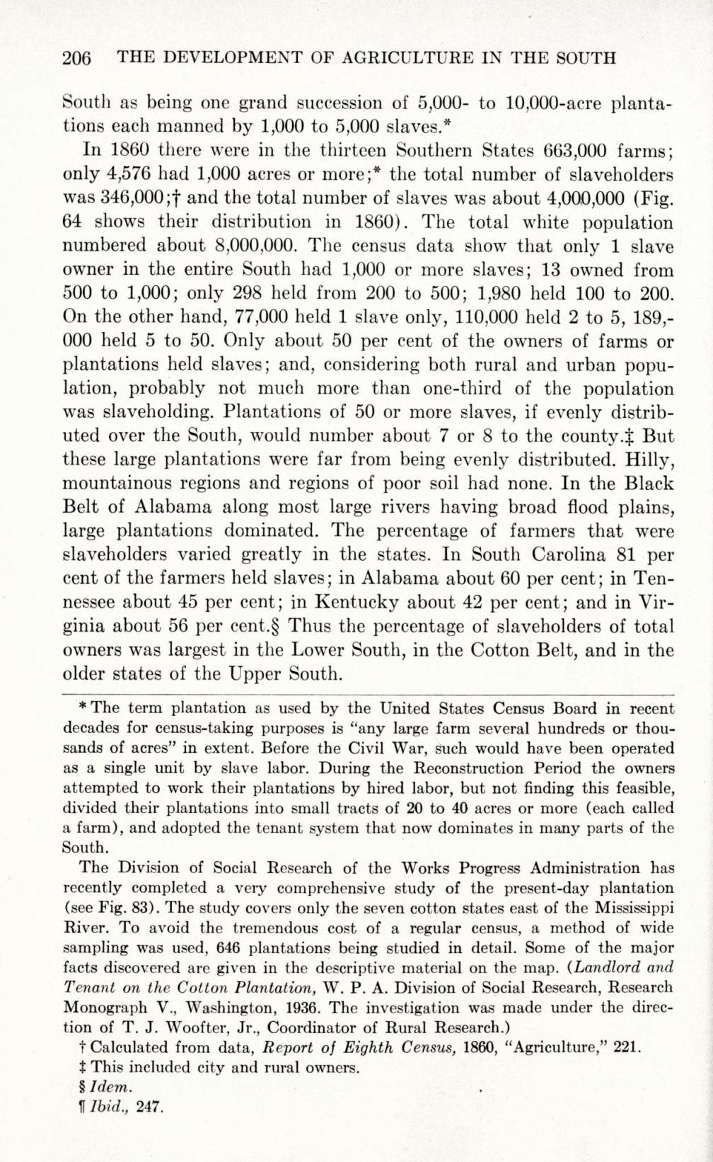 percentage of slaveholders_southitseconomic00parkrich_0222