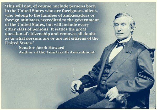 Sen Howard author of 14th amendment